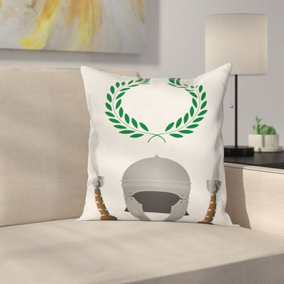 Roman Glory Heritage Square Cushion Pillow Cover Size: 20 x 20