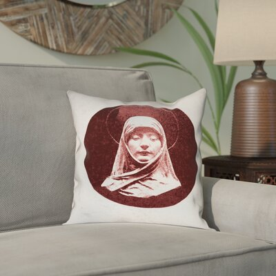 Carpenter Vintage Prayer Woman Outdoor Throw Pillow Size: 20 x 20