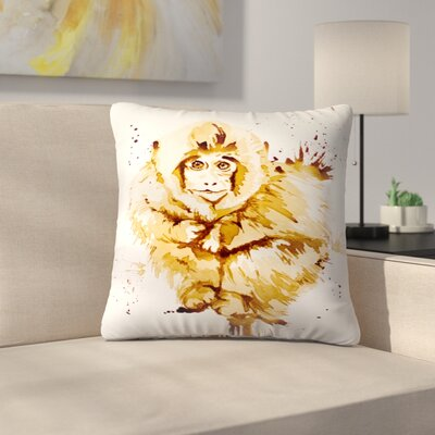 Monkey Throw Pillow Size: 20 x 20