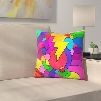 Lightening Bolt Throw Pillow