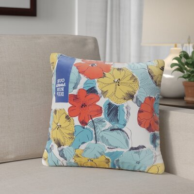 Edythe Floral Design Our Roots Run Deep Sentiment Outdoor Throw Pillow