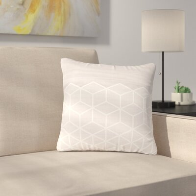 Draper Geo Woodgrain Outdoor Throw Pillow Size: 16 H x 16 W x 5 D