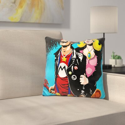 The Sid and Nancy Nintendo Lost Throw Pillow