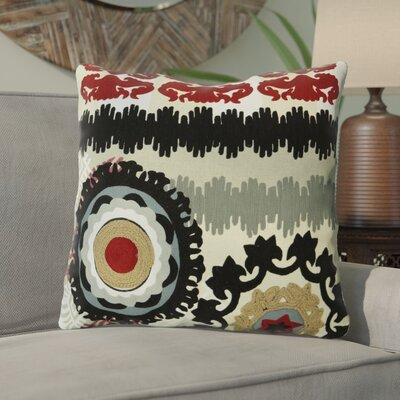 Salguero Embroidery 100% Cotton Throw Pillow