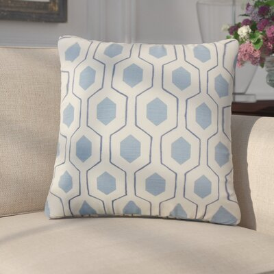 Edmondo Geometric Cotton Throw Pillow Color: Blue