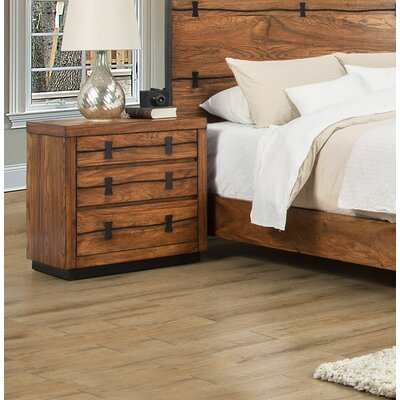 Ricker 3 Drawer Nightstand