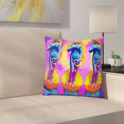 Boticelli Venus Throw Pillow
