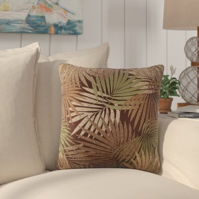 Danae Outdoor Throw Pillow Color: Brown/Green