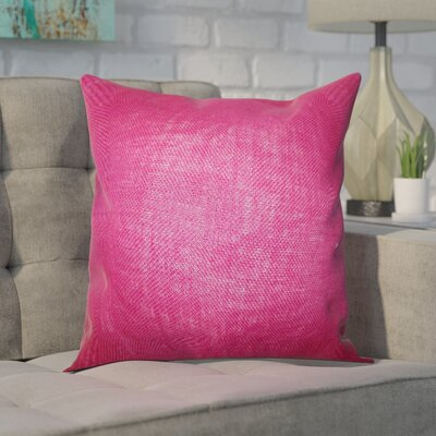 Portsmouth Solid Burlap Throw Pillow Color: Magenta, Size: 18 H x 18 W