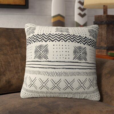 Couturier Throw Pillow Color: Ivory, Size: 16 H x 16 W