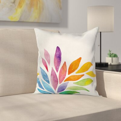 Modern Flower Square Pillow Cover with Zipper Size: 16 x 16