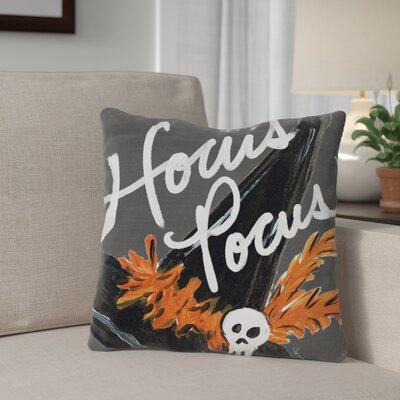 Halloween Hat Hocus Pocus Throw Pillow Size: 16 x 16