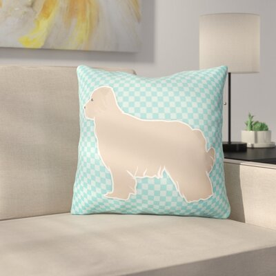 Pyrenean Shepherd Indoor/Outdoor Throw Pillow Size: 14 H x 14 W x 3 D, Color: Blue