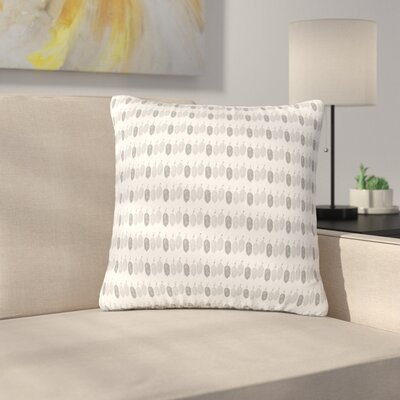 Petit Griffin Feathers Illustration Outdoor Throw Pillow Size: 16 H x 16 W x 5 D