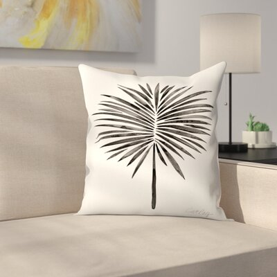 Fan Palm Throw Pillow Size: 14 x 14