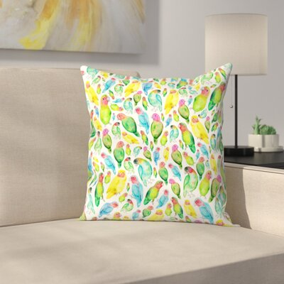 Elena ONeill Love Birds Throw Pillow Size: 20 x 20