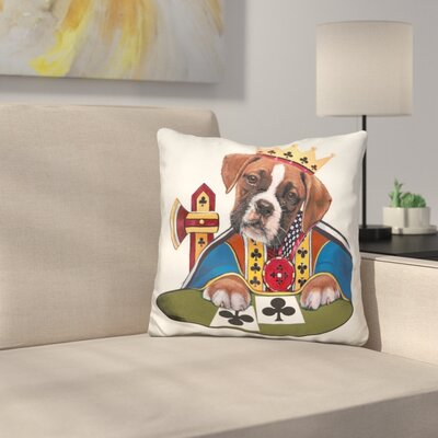 King of Clubs Throw Pillow
