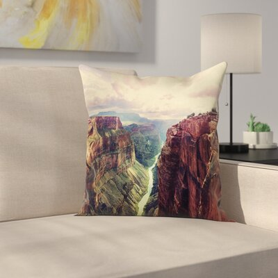American Case Grand Canyon River Square Pillow Cover Size: 18 x 18