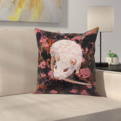 Michael Creese Rat Throw Pillow Size: 20 x 20