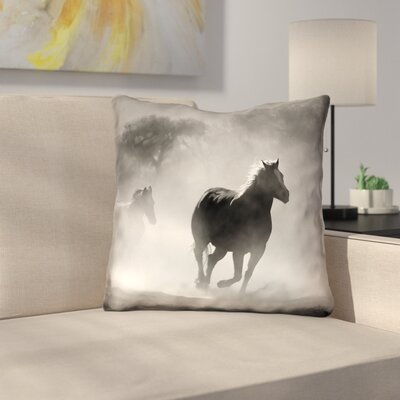 Aminata Galloping Horses Throw Pillow Size: 26 x 26