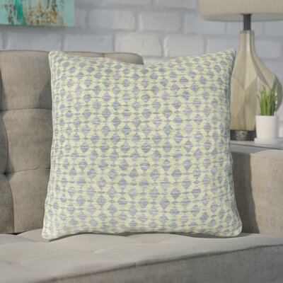Foerster Geometric Diamond Throw Pillow Color: Green