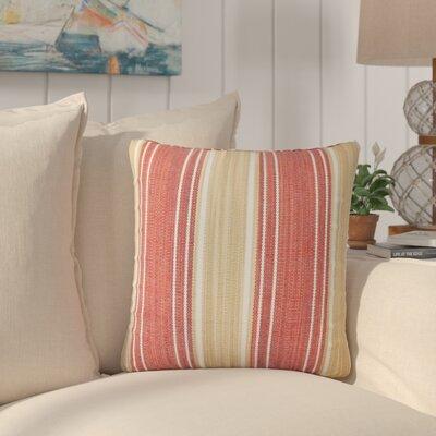 Min Stripes Cotton Throw Pillow Color: Cayenne