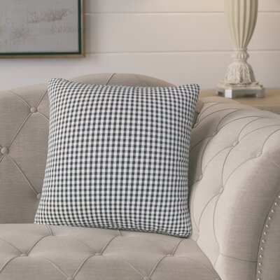 Bergmann Plaid Cotton Throw Pillow Color: Black
