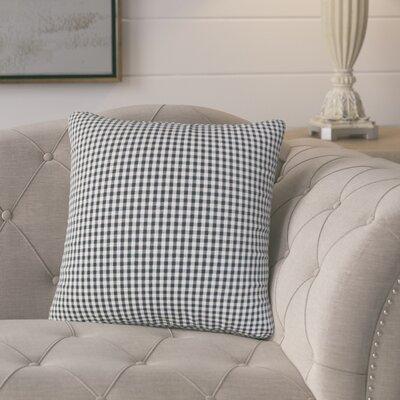 Bergmann Plaid Cotton Throw Pillow Color: Black