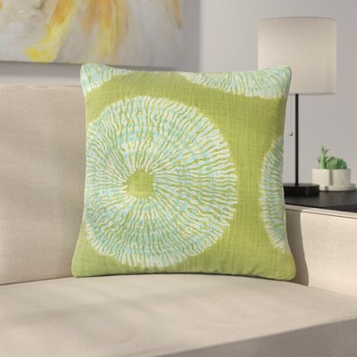 Sherrick Ikat Down Filled 100% Cotton Throw Pillow Size: 18 x 18, Color: Seaglass