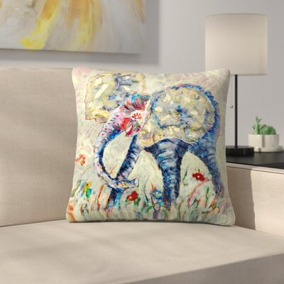 Sunshine Taylor Baby Elephant Throw Pillow Size: 18 x 18