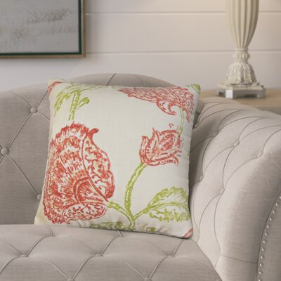 Bettine Floral Throw Pillow Color: Natural Pink