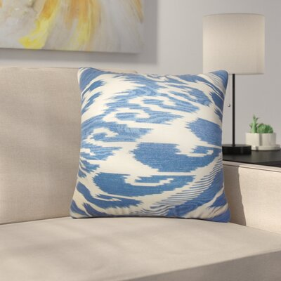 Augill Platz Ikat Linen Throw Pillow Color: Blue