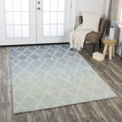 Roberts Hand-Tufted Wool Gray Area Rug Rug Size: Rectangle 5 x 8