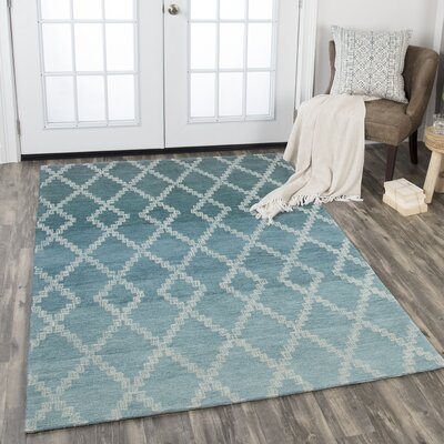 Roberts Hand-Tufted Wool Teal Area Rug Rug Size: Rectangle 8 x 11