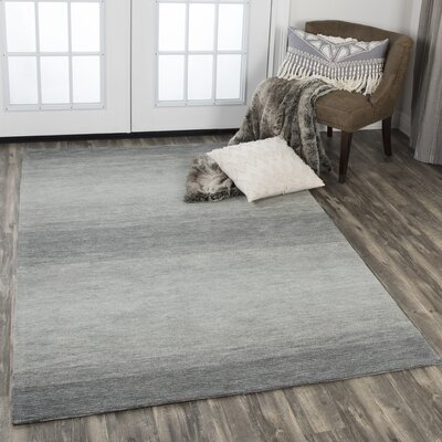 Scheffel Hand-Tufted Wool Charcoal Area Rug Rug Size: Rectangle 5 x 8