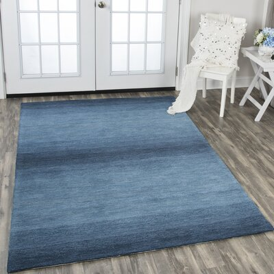 Scheffel Hand-Tufted Wool Blue Area Rug Rug Size: Rectangle 8 x 11