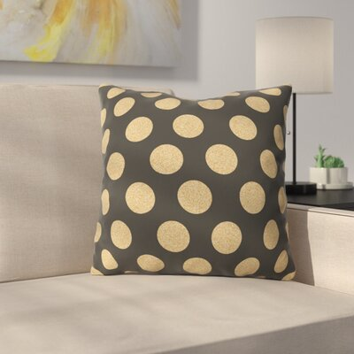 Throw Pillow Size: 16 H x 16 W x 4 D, Color: Black/Gold