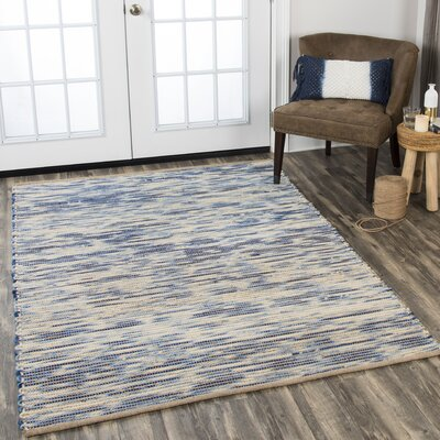 Holler Hand-Woven Wool Blue Area Rug Rug Size: Rectangle 86 x 116