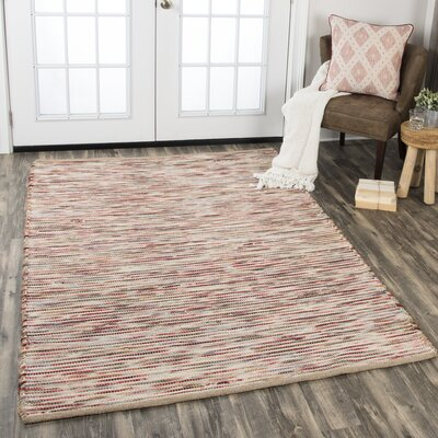 Holler Hand-Woven Wool Red Area Rug Rug Size: Rectangle 36 x 56