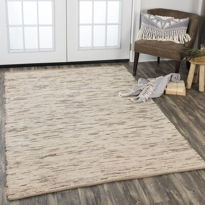 Holler Hand-Woven Wool Beige Area Rug Rug Size: Rectangle 36 x 56
