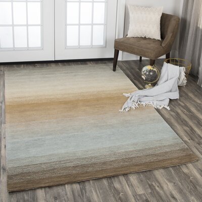 Maier Hand-Tufted Wool Brown/Beige Area Rug Rug Size: Rectangle 5 x 8