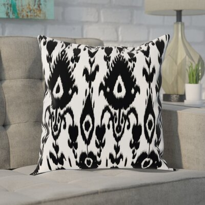 Decorative Polyester Throw Pillow Size: 18 H x 18 W, Color: Black