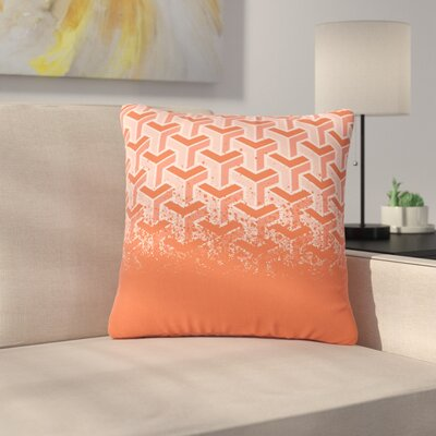 Just L No Yard Urban Outdoor Throw Pillow Color: Coral, Size: 18 H x 18 W x 5 D