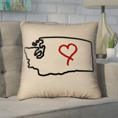 Sherilyn Washington Love Size: 28 x 28, Type: Floor Pillow