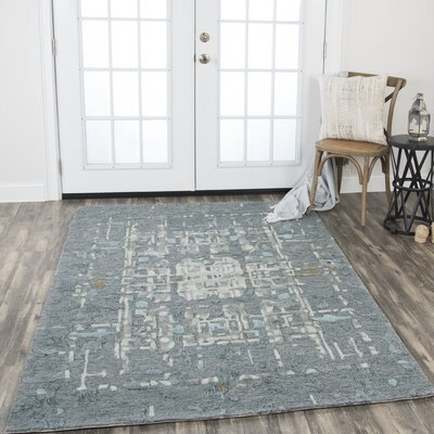 Gomes Hand-Tufted Wool Gray Area Rug Rug Size: Rectangle 5 x 8