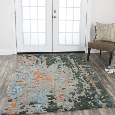 Gomes Hand-Tufted Wool Taupe Area Rug Rug Size: Rectangle 26 x 8