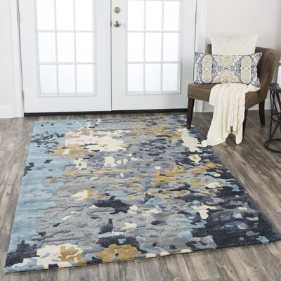 Gomes Hand-Tufted Wool Gray Area Rug Rug Size: Rectangle 26 x 8