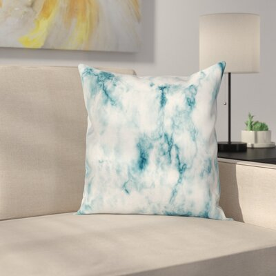 Grunge Marble Effect Square Pillow Cover Size: 18 x 18