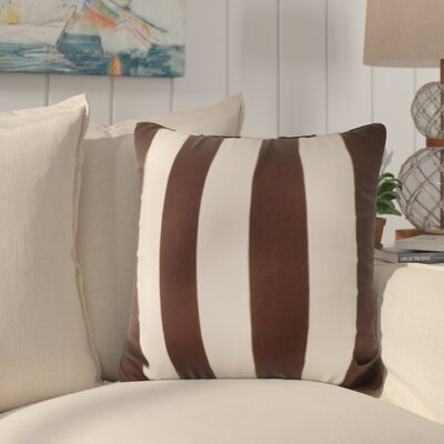 Merrill Outdoor Throw Pillow Color: Brown/Stark White