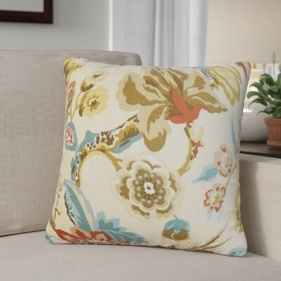 Pearse Floral Throw Pillow Cover Color: Natural